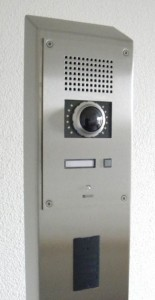 BSP RVS zuil nedap kaartlezer dc130 intercom commend wc200v